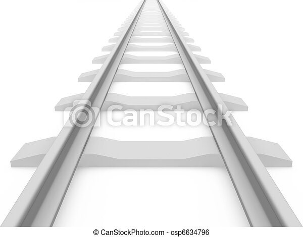 Railroad train tracks - csp6634796