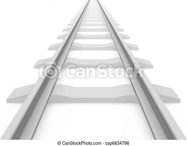 Railroad train tracks - csp6634796