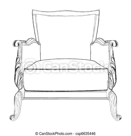 Antique Armchair - csp6635446