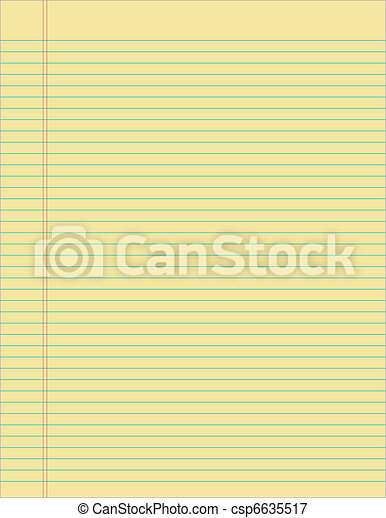 Lined Yellow Paper - csp6635517