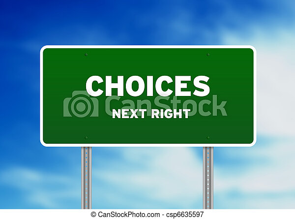 Choices Road Sign - csp6635597