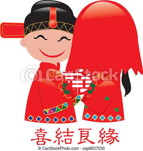 Chinese wedding  - csp6637030