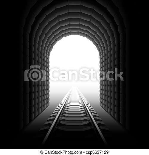 Railroad tunnel - csp6637129