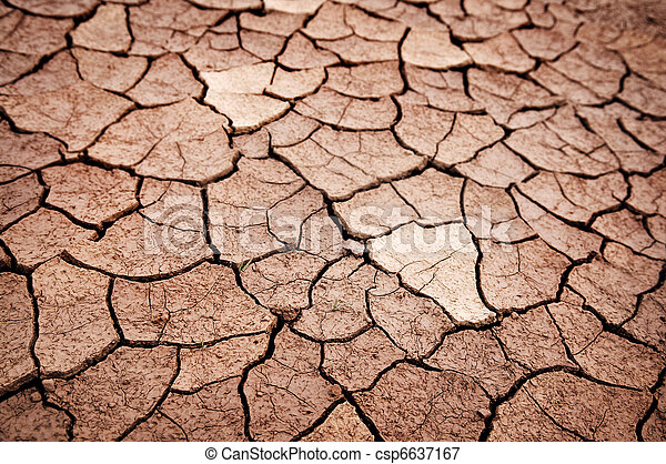 Dry cracked earth - csp6637167