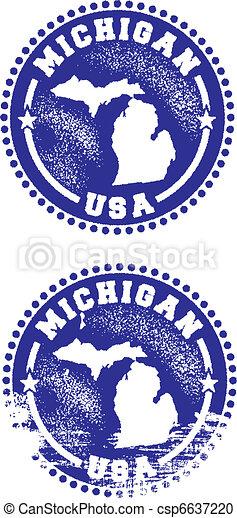 Michigan USA Stamps - csp6637220