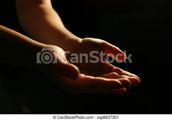 Worshiping hands - csp6637301