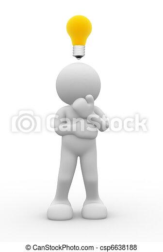 Light bulb - csp6638188