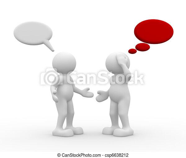 Two people talking - csp6638212
