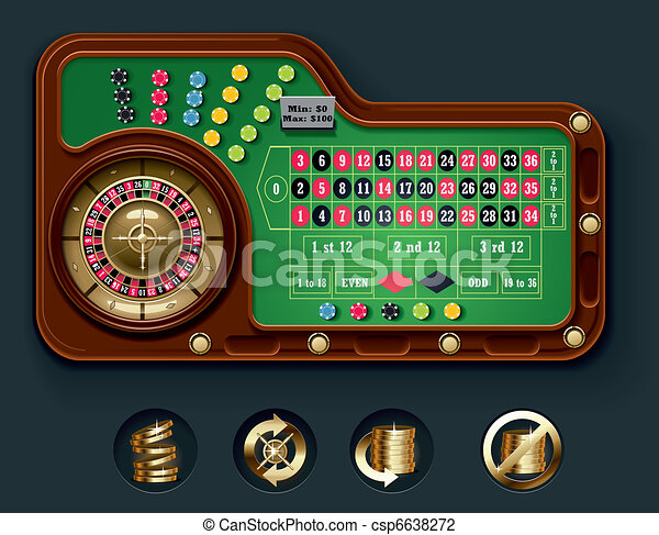 American roulette table layot - csp6638272