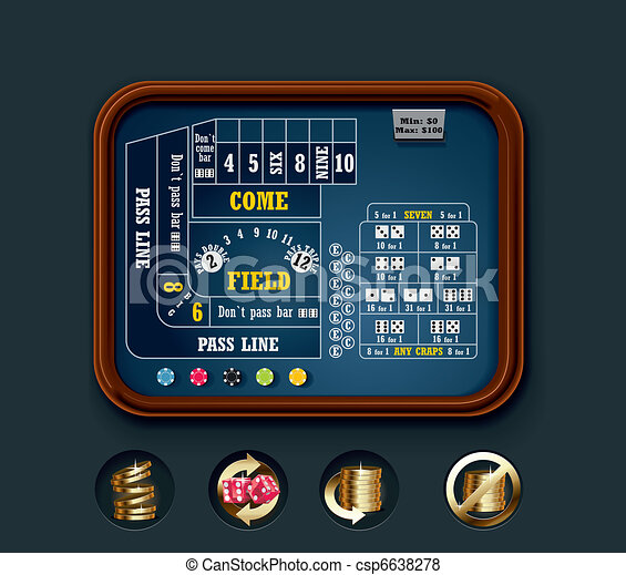 Vector craps table layout (small) - csp6638278