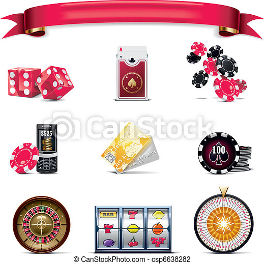 Vector gambling icon set. P. (w) - csp6638282