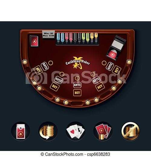 Vector poker table layout - csp6638283
