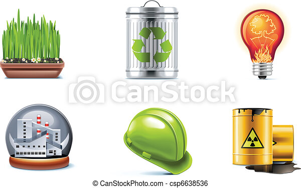 Vector ecology icon set. P.2 - csp6638536