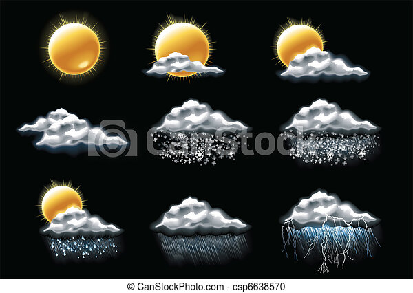 Vector weather forecast icons. P.1 - csp6638570