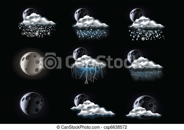 Vector weather forecast icons. P.3 - csp6638572
