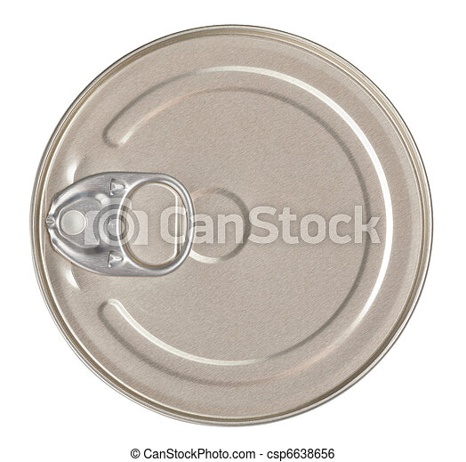 Food tin can top view isolated included - csp6638656