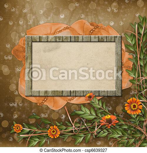 Archivio illustrazioni di legno foto cornice fiori for Mazzo per esterni in legno