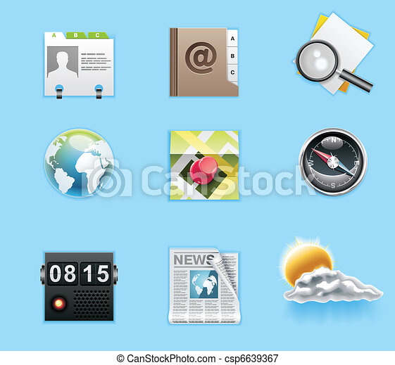 Applications and services icons - csp6639367