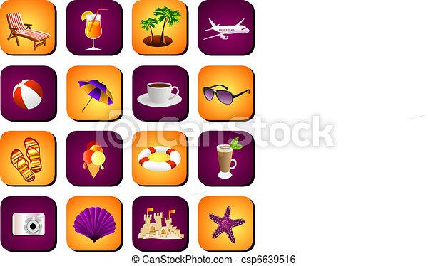beach icon set - csp6639516