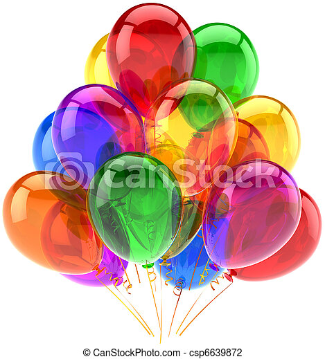 Dekoration,  party, geburstag, luftballone - csp6639872