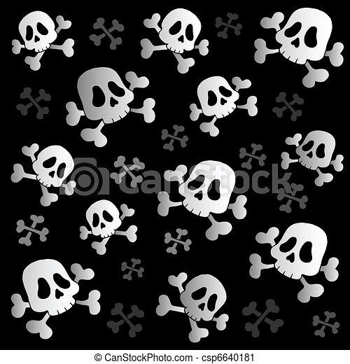 Pirate skulls and bones - csp6640181