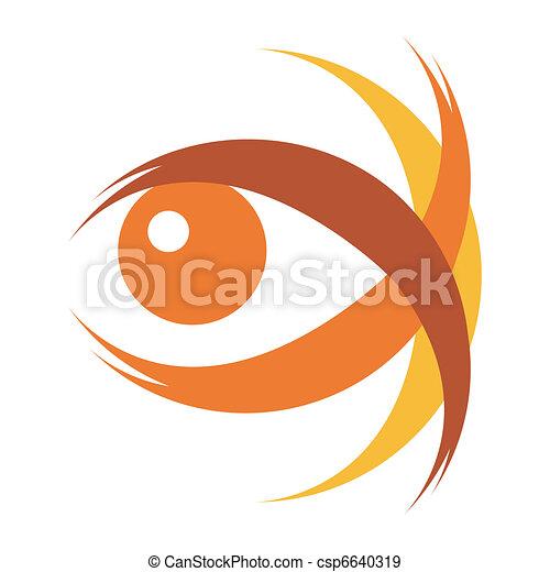 Striking eye illustration.  - csp6640319