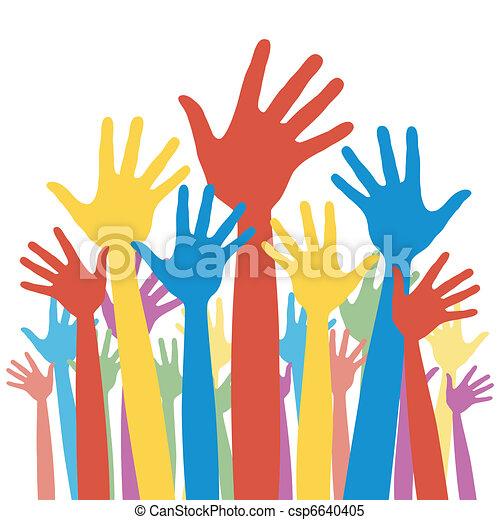 General election voting hands. - csp6640405