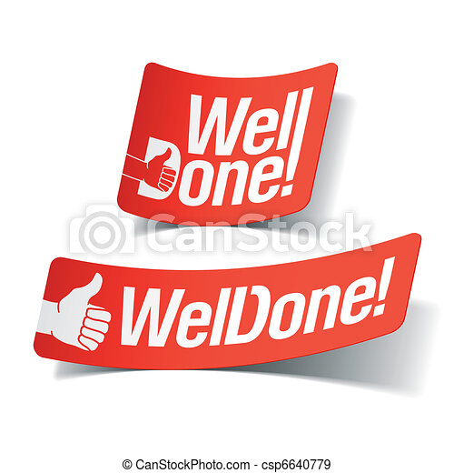 Well done label - csp6640779