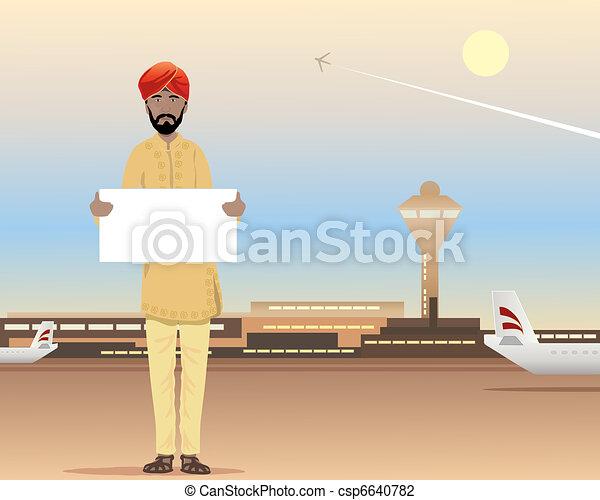 airport arrival - csp6640782