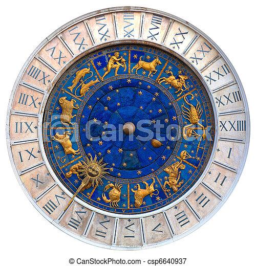 venetian clock - csp6640937