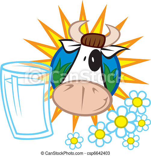 Milk and cow - csp6642403