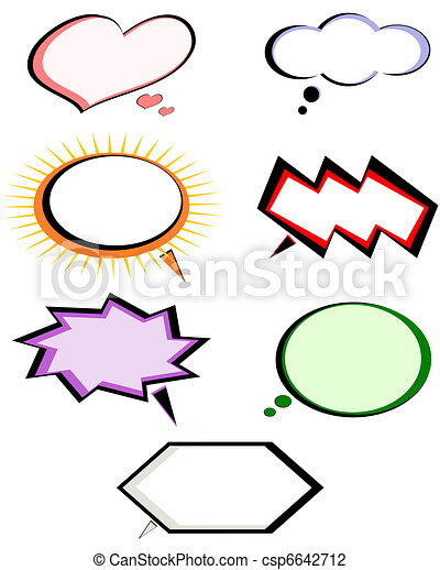 Set of conversation bubbles depicting diverse emotional states. - csp6642712