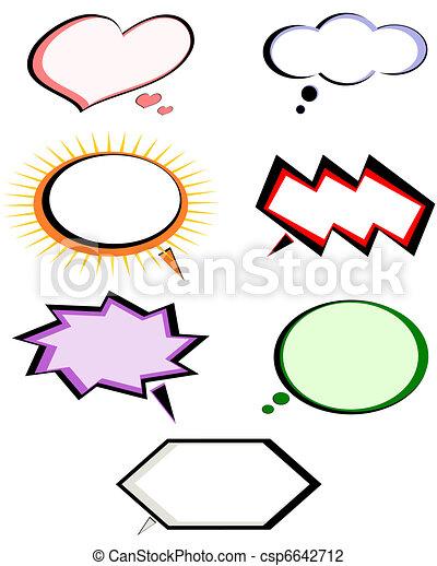 Set of conversation bubbles depicting diverse emotional states. - csp6642712
