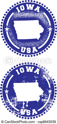 Iowa USA Stamps - csp6643039
