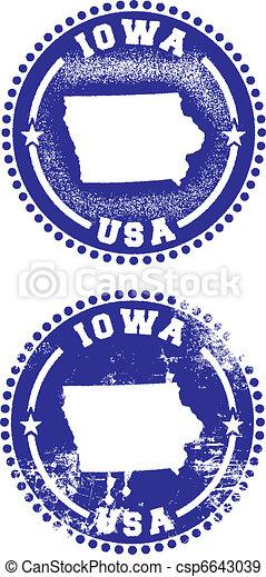 Iowa USA Stamps - csp6643039