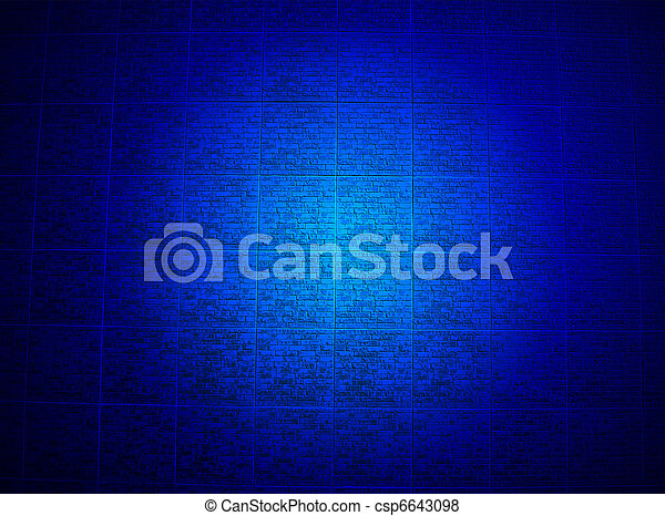 blue brick wall lighting, religion details - csp6643098