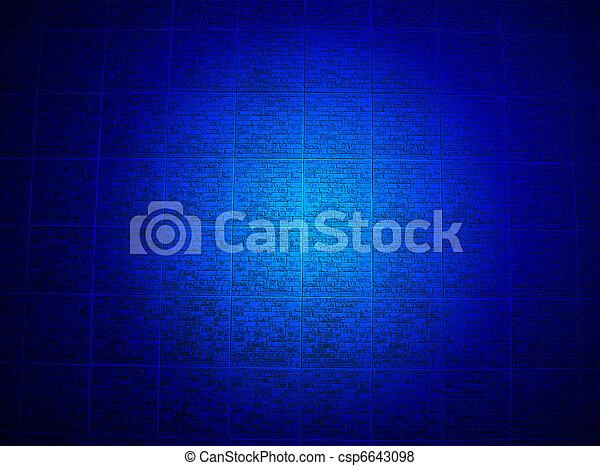 青, 宗教, 壁, 照明, 詳細, れんが - csp6643098