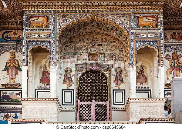 temple hinduism in Mandawa rajasthan state in india - csp6643604