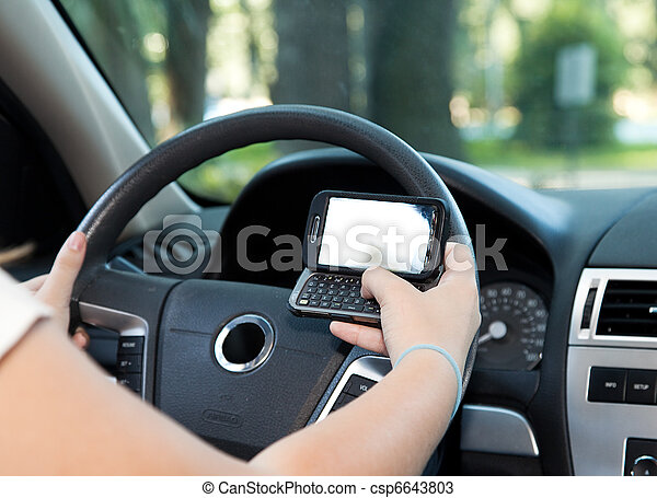 Texting and Driving - csp6643803