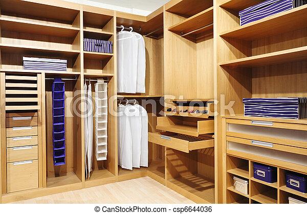 wood closet - csp6644036