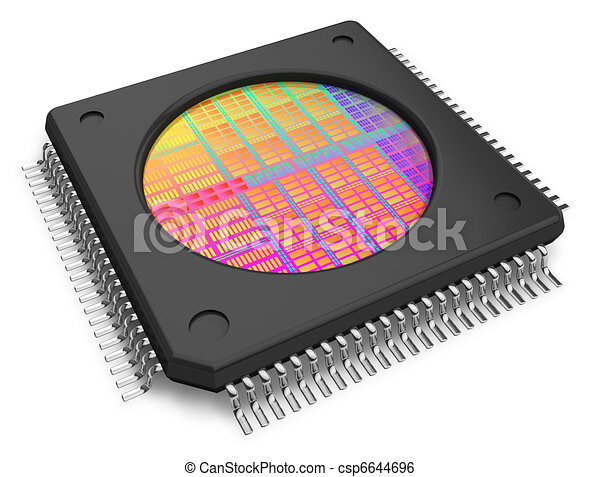 Microchip with visible die - csp6644696