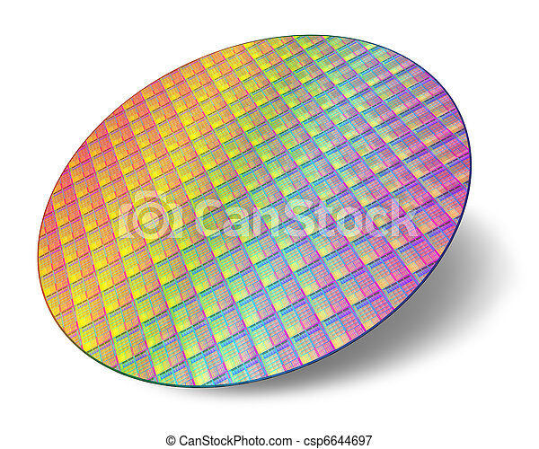Silicon wafer with processor cores - csp6644697