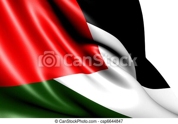 Flag of Palestine  - csp6644847