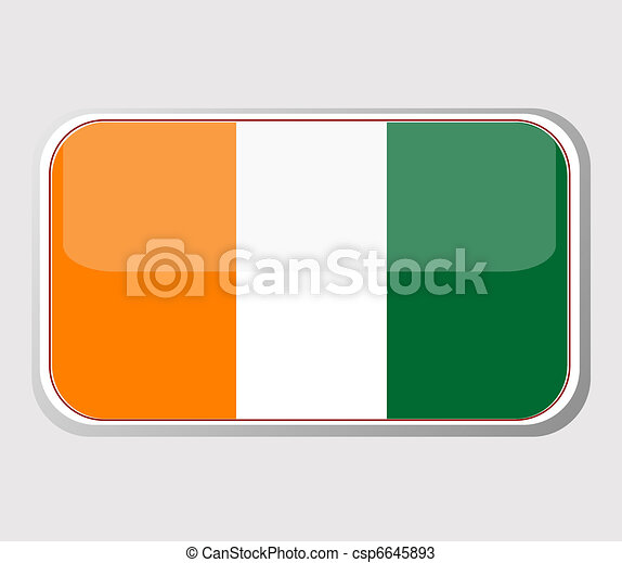 Flag of ivory coast in the form. vector - csp6645893