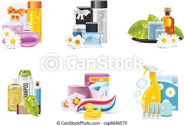 Vector health and beauty supplies - csp6646570