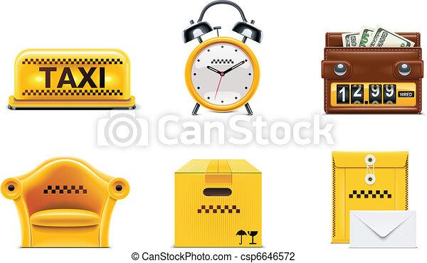 Vector taxi service icons. P.2 - csp6646572