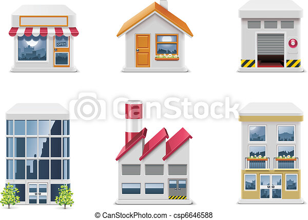 Vector real estate icons. P.1 - csp6646588