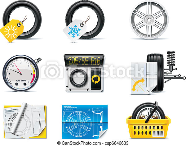 Car service icons. P.1. Tires - csp6646633
