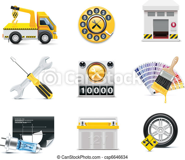 Car service icons. P.2 - csp6646634
