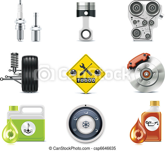 Car service icons. P.3 - csp6646635